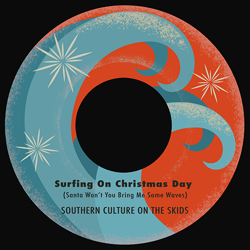 Surfing On Christmas Day artwork